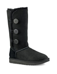 Ugg Classic Bailey Button Triplet Ii Leather Winter Boots Black