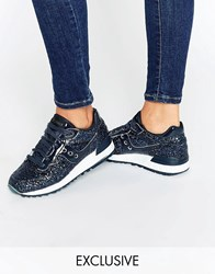 Asos White X Saucony Shadow 5000 In Glitter Navy