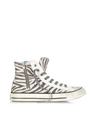 Converse Limited Edition All Star High Top Animal Printed Canvas Zip Sneaker White