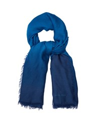 Bottega Veneta Degrade Fine Knit Wool Scarf Blue Multi