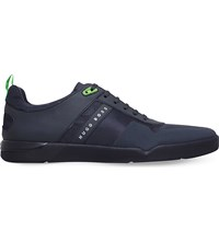 Hugo Boss Feather Mesh Trainers Navy