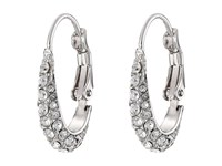 Cole Haan Small Pave Oval Hoop Earrings Silver Crystal Earring