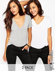 Asos Tall Forever T Shirt 2 Pack Save 17 Multi