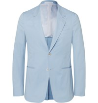 Caruso Blue Slim Fit Stretch Cotton Suit Jacket Blue
