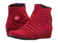 Vaneli Mandly Red Suede Match Mop Button Women's Dress Sandals