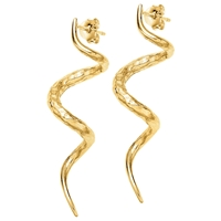 Dower And Hall 18Ct Yellow Gold Plated Curl Stud Earrings