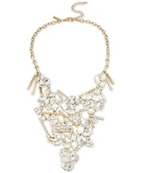 Inc International Concepts Gold Tone Crystal Cluster Statement Necklace Only At Macy's