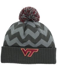 Top Of The World Virginia Tech Hokies Chevron Pom Knit Hat Gray