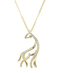 Lord And Taylor 14Kt. Yellow Gold And Diamond Horse Pendant Necklace