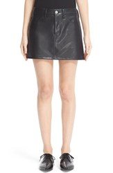 Junya Watanabe Women's Faux Leather Miniskirt