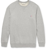Maison Kitsune Maion Kitune Loopback Cotton Jerey Weathirt Gray