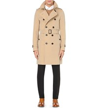 Burberry The Sandringham Cotton Twill Trench Coat Honey