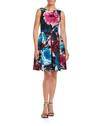 Taylor Floral Fit And Flare Dress Raspberry