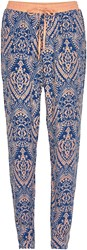 Soaked In Luxury Print Tapered Trousers Multi Coloured