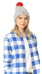 Madewell Pom Beanie Hat Donegal Pelican