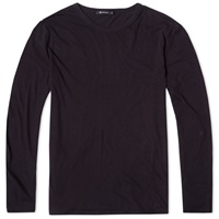 T By Alexander Wang Long Sleeve Classic Tee Black