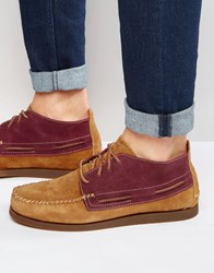 Sperry Wedge Suede Boat Boots Tan Brown