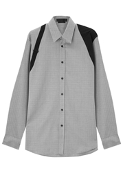 Alexander Mcqueen Harness Herringbone Cotton Shirt