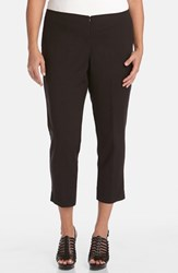 Karen Kane Plus Size Women's Stretch Capri Pants Black