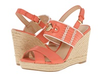 Tommy Hilfiger Pleasant Coral White Women's Wedge Shoes Orange