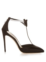 Olgana Paris La Garconne Satin Pumps Black White