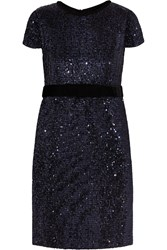 Maje Ketsia Sequined Tulle Dress Blue