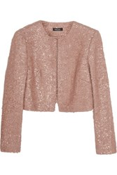 Raoul Cropped Metallic Mohair Blend Jacket Antique Rose