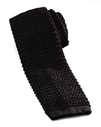 Charvet Knit Silk Tie Black Black
