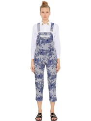 Shrimps Danny Cotton Blend Chambray Overalls