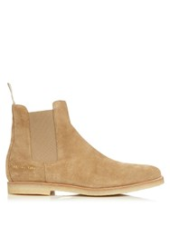 Common Projects Suede Chelsea Boots Tan