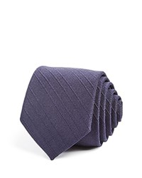 Theory Double Dash Print Classic Tie Blue