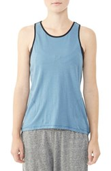 Alternative Apparel Women's Alternative Back Cutout Tank Bluestone