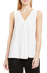 Vince Camuto Petite Women's Drape Front V Neck Sleeveless Blouse New Ivory