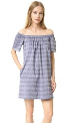 Shoshanna Corinna Dress Denim Blue