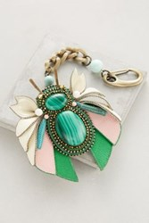 Anthropologie Bloomed Bug Keychain Green