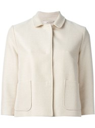 Eleventy Three Quarter Sleeve Jacket Nude And Neutrals