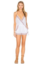 Band Of Gypsies Sleeveless Side Tie Romper White