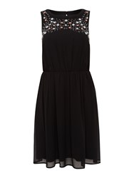 Therapy Beaded Detail Dress Black