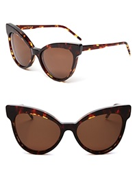 Wildfox Couture Wildfox Grand Dame Exaggerated Cat Eye Sunglasses Tokyo Tortoise Brown
