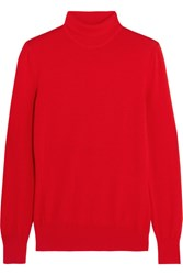 Givenchy Turtleneck Sweater In Red Wool