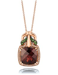 Le Vian 0.14Tcw Diamonds Tsavorite Garnet And 14K Rose Gold Pendant Necklace