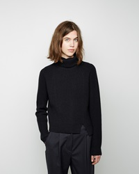 Proenza Schouler Side Slit Cashmere Turtleneck Black