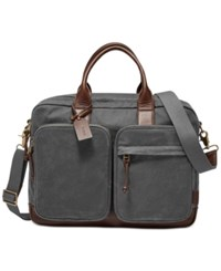 Fossil Men's Waxed Canvas Defender Workbag Gray