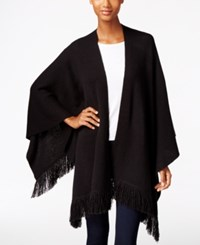 Styleandco. Style Co. Fringe Wrap Poncho Only At Macy's Deep Black
