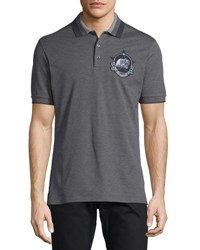 Givenchy Monkey Brothers Pique Polo Shirt Gray