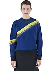 Christopher Kane Asymmetric Looped Sweater Navy