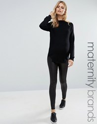 Mama Licious Mamalicious Leather Look Leggings Black