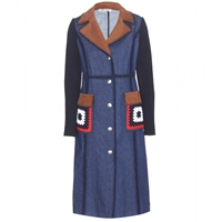 Miu Miu Embellished Denim Trench Coat
