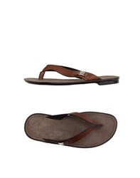 Dolce And Gabbana Footwear Thong Sandals Men Brown