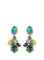 Anabela Chan 'Opals Poseidon' Diamond Pave Gemstone Drop Earrings Multi Colour